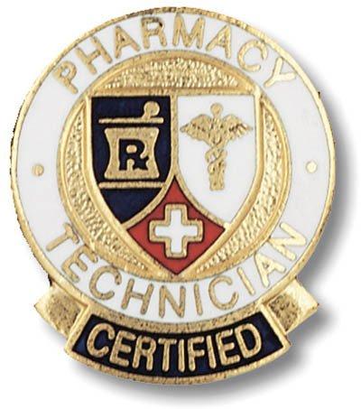 EMI Pharmacy Technician CERTIFIED Emblem Pin - Round