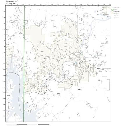 Amazon.com: ZIP Code Wall Map of Branson, MO ZIP Code Map Not