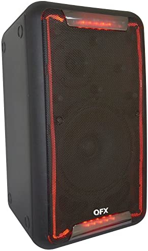 QFX PBX-88 8 Portable Party Speaker with Back-strap