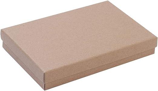 NBEADS Caja de 24 Cuentas de Cartón Rectangulares, 12,5 X 18 Cm, Caja de Regalo para Joyas, Pulseras, Collares, Manualidades, Pulseras Y Almacenamiento: Amazon.es: Hogar