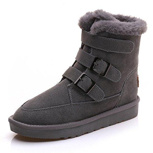 gray tubo Snow plus tubo cashmere Nel nel caldo inverno Boots stivali femmina cotone scarpe antiscivolo di dnqIZ