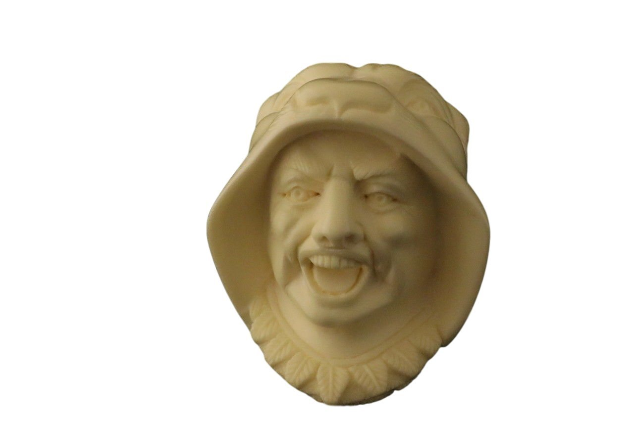 Meerschaum Pipe - Tiger Man from Master Carver Emin - Tobacco Smoking Pipe Hand Made from the Finest Block Meerschaum - New