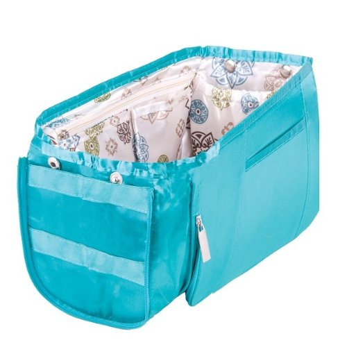 Pursfection EXPANDABLE Purse Organizer - Teal/Pinwheel