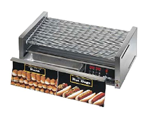 Star Mfg. Grill-Max 30-Hot Dog Roller Grill w/ Bun Drawer