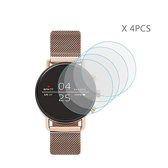 (4 PCS) HLH for Skagen Falster 2 Screen Protector ,9H Hardness Anti-Scratch Tempered Glass Screen Protector for Skagen Falster 2 for (SKT5100 SKT5102 ...