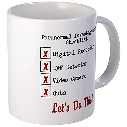 Gifts for Women Unique Funny Coffee Mugs 11oz Paranormal Investigator's Checklist Ceramic Mug Present Awesome by Simplyeo
