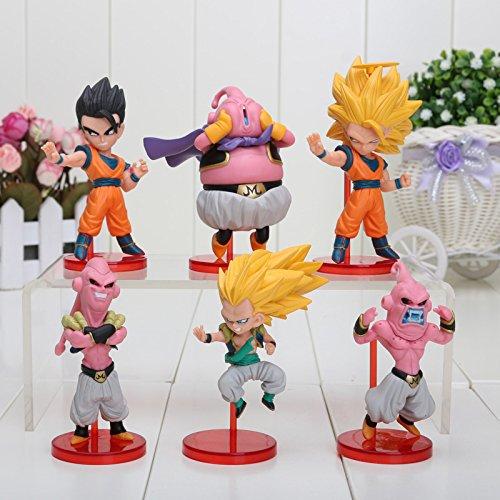 6pcs/set Anime Dragon ball Z son Goku Vegeta Piccolo DBZ Piccolo Gohan super saiyan zenoh PVC Action Figure Toys children gift (1)