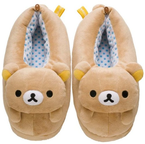 Rilakkuma Cute Plush Slipper - 9.5 in. (Women M Size) KY01601