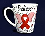 Butterfly Believe Coffee Mug - Red Ribbon (RETAIL)