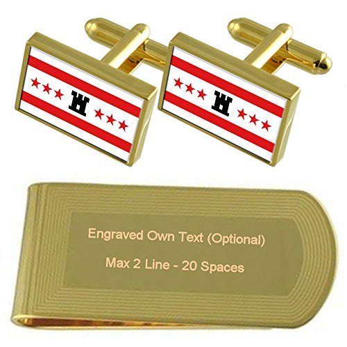 Money tone Cufflinks Clip Flag Gold Gift Set Drenthe Engraved nESxqIwSP