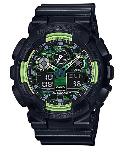 G Shock GA 100 Sporty Illumi Series Watches   Black One Size