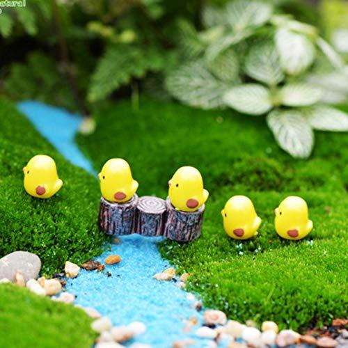 Dollhouse Furniture - 10pcs Easter Chicken Ornament Resin Fairy Miniature Garden Scene Decoration - Figurines People Miniatures Figurines Miniatures Easter Chick Fantasy Resin Decor Miniature Fai -