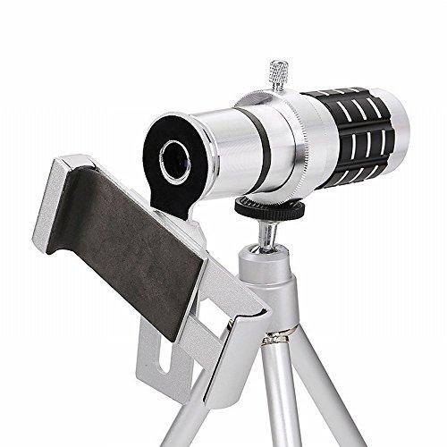 12X 12X Téléobjectif Téléobjectif Hd Télescope Métallique avec Trépied