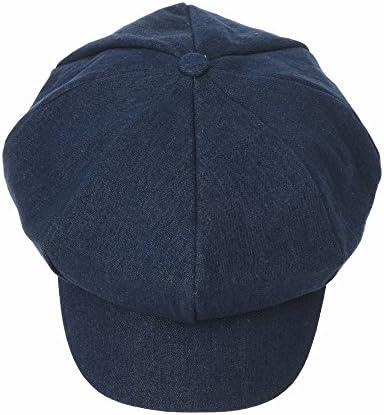 キャスケットハンチング帽ニューズボイハット デニムジーン コットン シンプル ベレーキャップ ベーカーボイ バイザーピークトハットSL3983