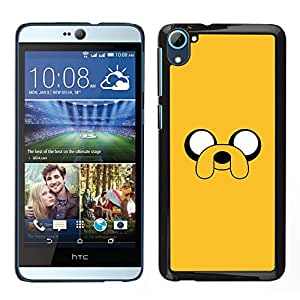 Design for Girls Plastic Cover Case FOR HTC Desire D826 Yellow Cartoon Comic Character Eyes Dog OBBA
