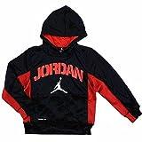 Nike Air Jordan Boys Therma Fit Hoodie Sweater Black (M)