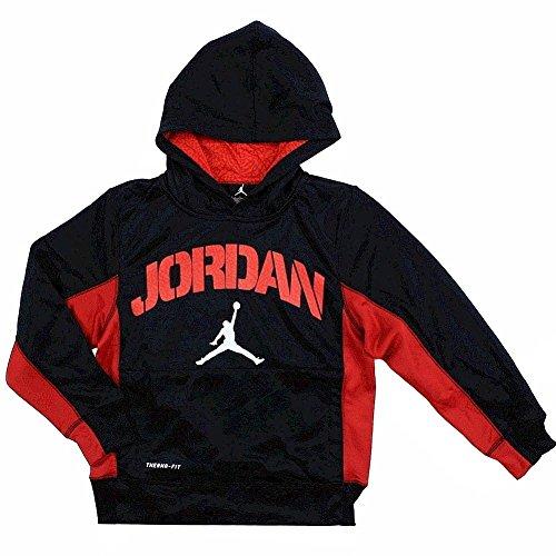 Nike Air Jordan Boys Therma Fit Hoodie Sweater Black (M) by NIKE