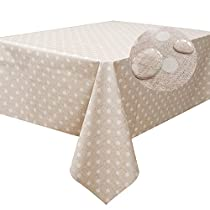 Fancy-fix Tablecloth Heavy Duty Vinyl Rectangle Table Cover Wipe Clean PVC Oil-proof & Mildew Proof for Picnic Table 54 by 78 inches