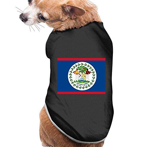 Shenghong Lin Flag Of Belize Summer Pet Clothes Pet T-Shirt Dog Cat Top Vest Clothes Puppy Costumes Pet Coats ()