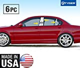 Made in USA! Fit 02-09 Jaguar X-Type 6 PC Stainless Steel Chrome Pillar Post Trim