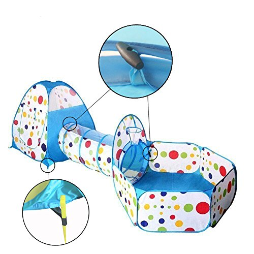 Travel Dream Foldable Kids Toddler Pop Up Play Tent with Tunnel and Ball Pit with Zippered Storage Bag For Kids Indoor Outdoor Playhouse Children Play Gaming Toys price