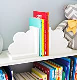 Cloud Bookends for Kids Room Baby Nursery Decor Bedroom Book End Clouds for Shelves - Decorations for Room or Nursery