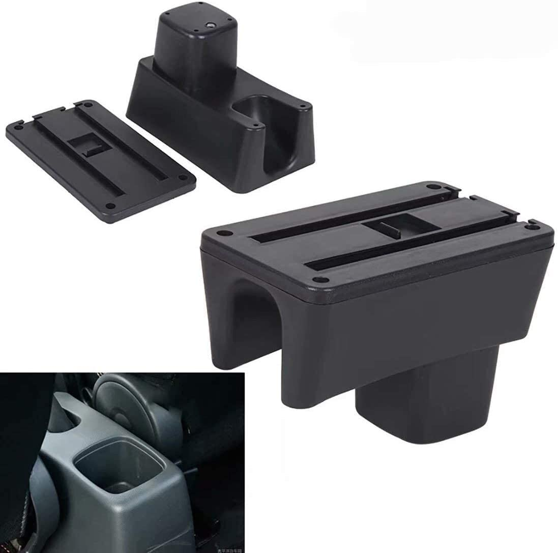 YuChen Car Armrest Box Center Console Single Layer Black Armrest Rest Storage Box Can Be Slid And Rotated For S/&uzuki Swift 2005 2006 2007 2008 2009 2010-2018