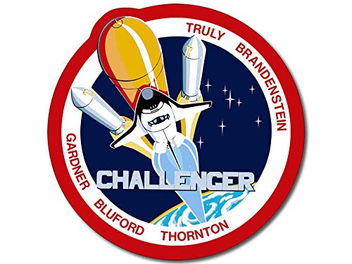 American Vinyl Space Shuttle Mission STS 8 Sticker (Challenger NASA Logo Insignia Patch Design)