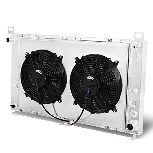 For GMC Yukon/Sierra 2-Row Tri-Core Aluminum Radiator + 12V Fan Shroud