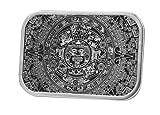 Buckle Rage Unisex Ancient Aztec Mayan Calendar Belt Buckle Silver