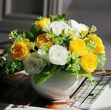 Jiale3536 Kunstliche Blumen Silk Blume Sonnenblume Blumenstrauss