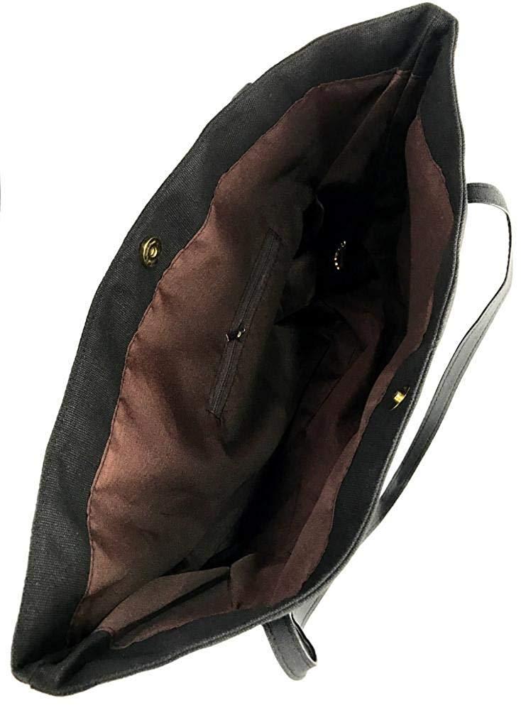 German Shepherd With Heart-1 Womens Canvas Shoulder Bag Large Capacity Messenger Bags BlackOne Size