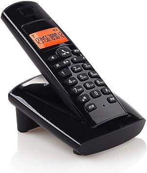 XHMCDZ Todos los días Teléfono inalámbrico Teléfono inalámbrico Teléfono Individual Máquina Fija Línea Fija Máquina Creativa Hogar Niño Máquina Oficina Línea inalámbrica (Color : Negro): Amazon.es: Electrónica