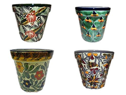 (Talavera Florentino, Peacock, Primavera & Violeta Flower Pot, 6