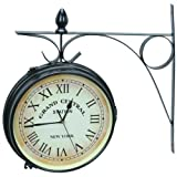 GRAND CENTRAL DUAL SIDED OUTDOOR CLOCK