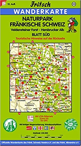 Fränkische Schweiz Karte.Fritsch Karten Nr 53 Naturpark Fränkische Schweiz Blatt Süd