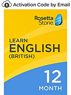 Rosetta Stone: Learn English (British) for 12 months on iOS, Android, PC, and Mac [Activation Code by Email] (B07D715R8W) | Amazon price tracker / tracking, Amazon price history charts, Amazon price watches, Amazon price drop alerts