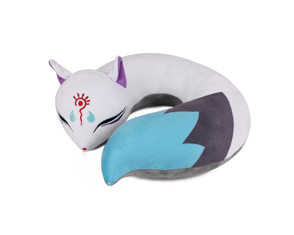 AllLove4U Plush stuffed Toy Cute Spirit Fox U Shape Neck Pillow Travel Pillow Animation gift (Blue) by AllLove4U (Image #1)