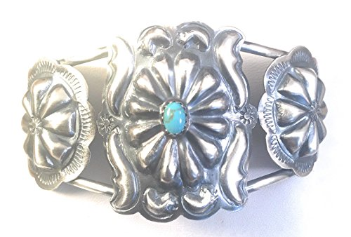 Nizhoni Traders LLC Navajo Sterling Silver Turquoise Cuff Bracelet by Tim Yazzie from Nizhoni Traders LLC