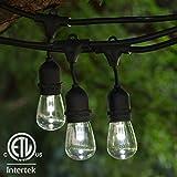 LED String Lights - 48 ft Suspended ETL Listed - LED Prof S14 Bulbs CW