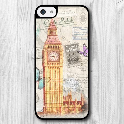 Amazon Com For Iphone 5s Case Fashion Design London Big Ben Pattern Protective Hard Phone Cover Skin Case For Iphone 5s Screen Protector