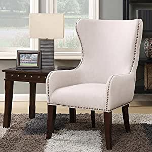 Amazon Com Laurel Hill Fabric Wingback Accent Chair