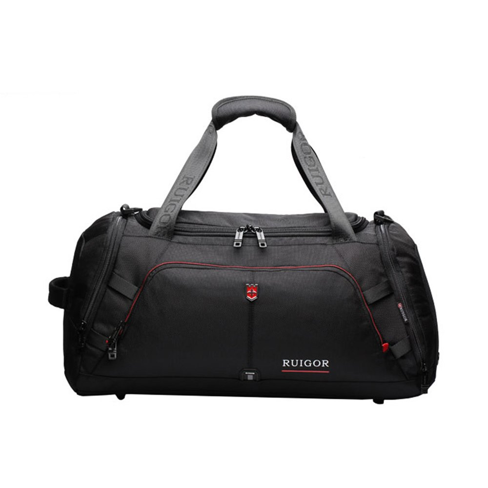 ハンドバッグ51.5x24x26cm旅行バックパック54x24x27cm大容量バッグ旅行スポーツバッグジムバッグ防水TravelYZRCRK (色 : BlackB)  BlackB B07DNY5N8B