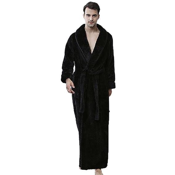 LJ Sport Nightgown Mens Boys Winter Flannel Fleece Dressing Gown ...