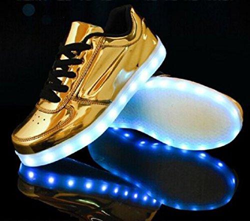 Ch Clignotants Couleur Lumineux Homme Usb junglest petite Unisexe Marche De Femme Serviette 7 Doré Lumière présents Chaussures Charge Mode Led xq6wUAII
