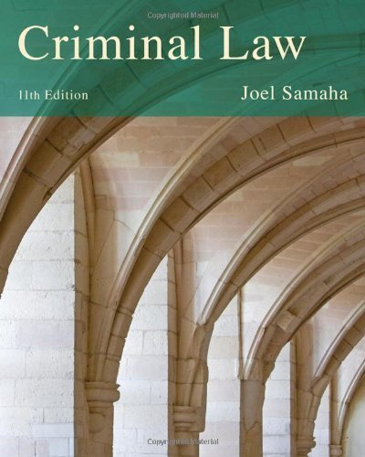 By Joel Samaha - Criminal Law (11th Edition) (12/16/12) pdf epub