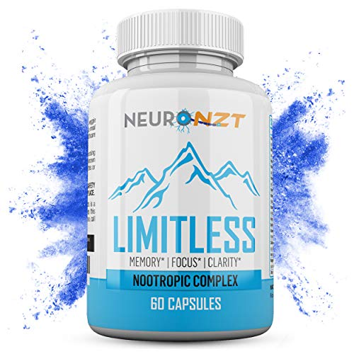 Limitless – NZT Nootropic Brain Booster Supplement – Enhance Focus, Boost Concentration & Improve Memory | Mind Enhancement with Amino Acids & DHA for Neuro Energy & IQ – 30 Day Supply
