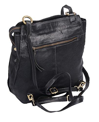 Bolso de hombro AVANCO, de cuero, 23x29x9cm Negro