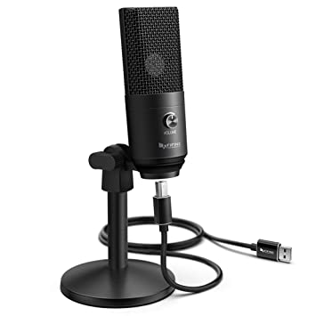 FIFINE Podcast Microphone USB with Headphone Monitoring 3 5mm Jack and  Pluggable USB Connectivity Cable for Computer,PC,Mac/Windows,Recording  Voice