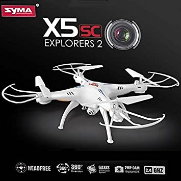 Drone quadricoptère Syma X5SC-1 con cámara de vídeo HD 2 MP ...